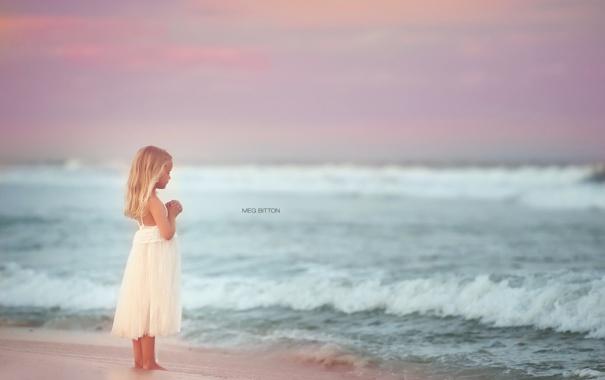Фото обои море, лето, девочка