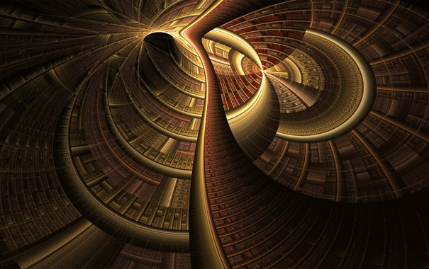 Фото обои свет, узор, структура, тоннель, объем