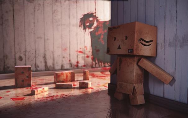 Фото обои blood, box, murder