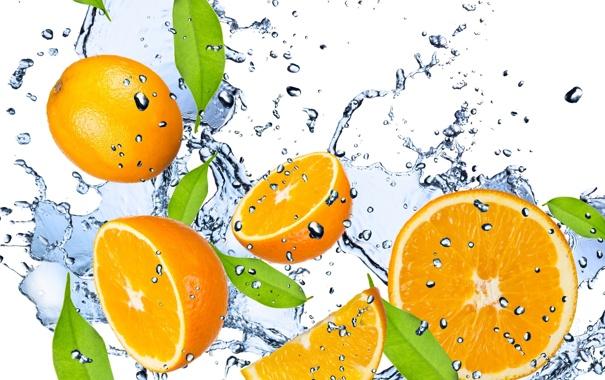 Фото обои вода, капли, брызги, свежесть, жёлтый, лимон, фрукт