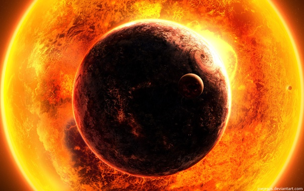 Фото обои солнце, планеты, Warm, EYE
