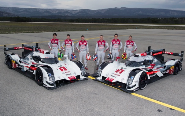 Фото обои Audi, ауди, спорт, суперкар, quattro, R18, e-Tron