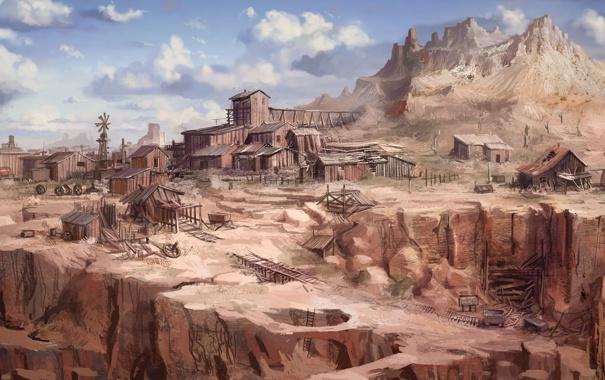 Фото обои пустыня, каньон, запад, дикий, Call of Juarez, The Cartel