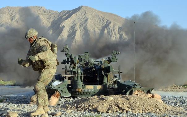 Фото обои оружие, солдат, артилерия