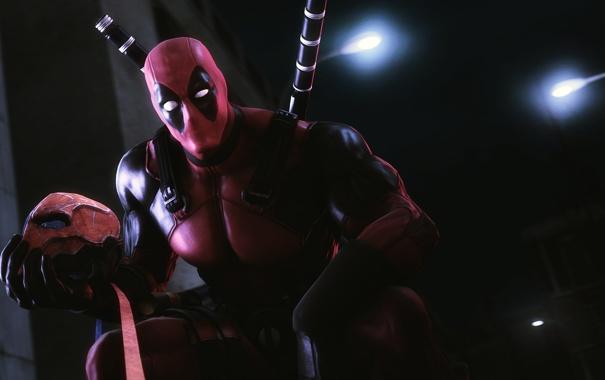 Фото обои костюм, Deadpool, наемник, mask, Wade Wilson, антигерой