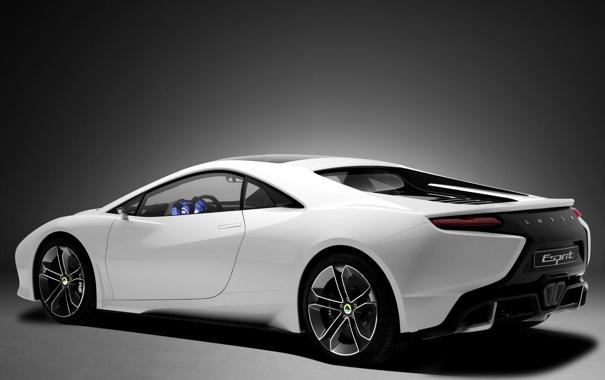 Фото обои Concept, Lotus, white, задняя часть, Esprit