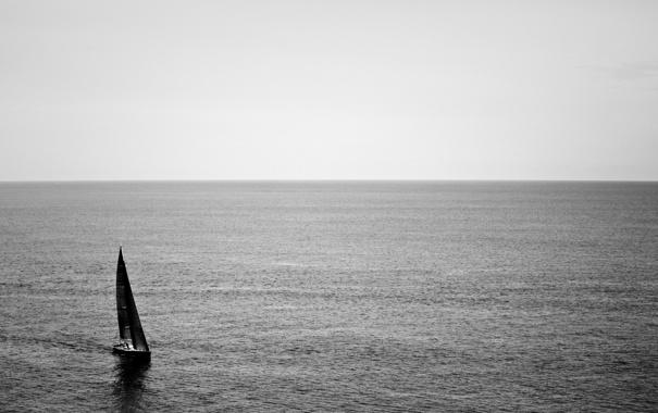 Фото обои море, небо, вода, океан, лодка, пейзажи, корабли