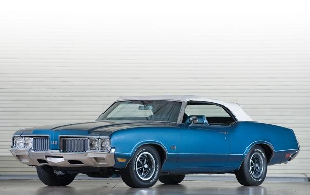 Фото обои ретро, автомобили, oldsmobile, 442 convertible