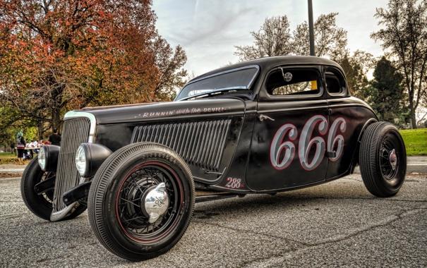 Фото обои car, ретро, hot, автомобиль, классика, retro, street