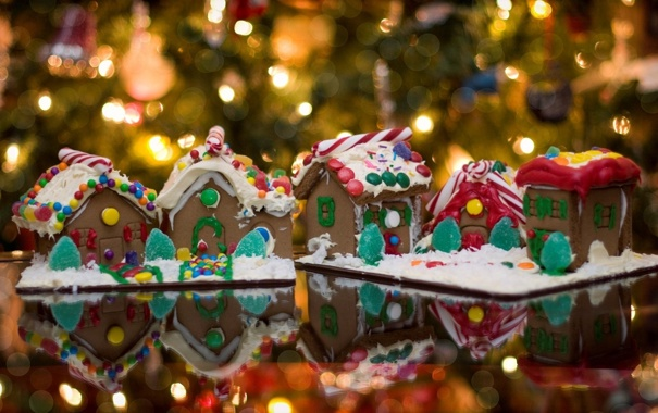Фото обои праздник, домики, Красота, вкуснятина, сладкое