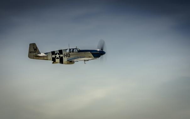 Фото обои небо, пропеллер, самолёт, P-51C, Mustang Princess Elizabeth