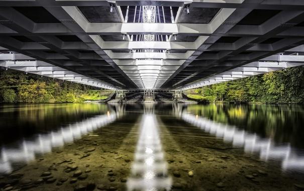Фото обои reflection, strandherd, Vimy Memorial Bridge