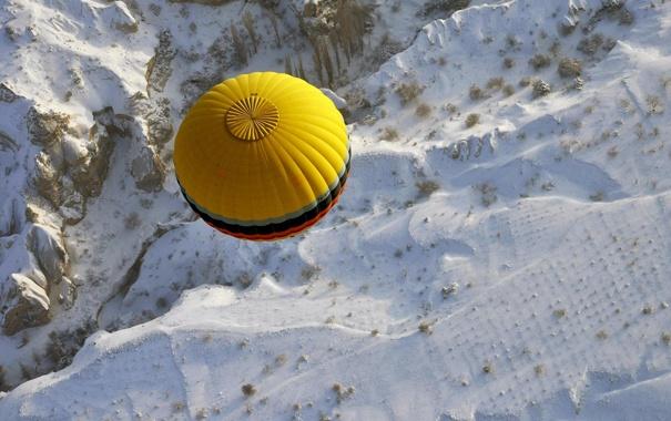 Фото обои снег, шар, воздушный