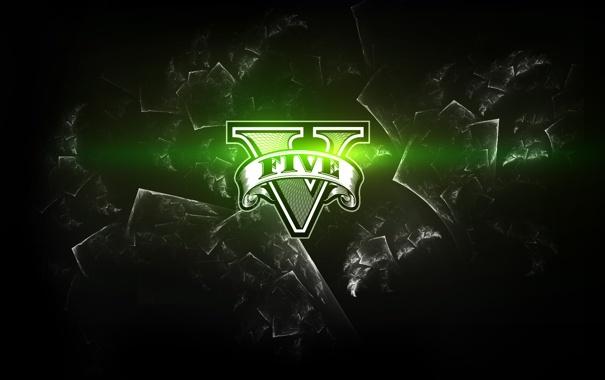 Фото обои зеленый, знак, лого, арт, gta5