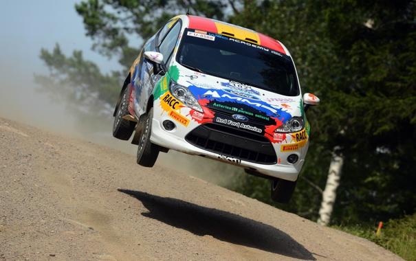 Фото обои Ford, Авто, Спорт, Форд, Гонка, Капот, Фары