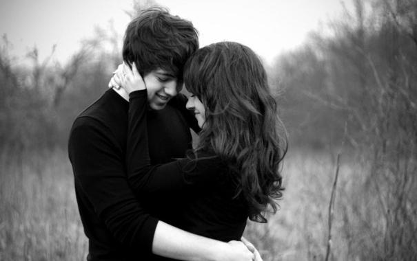 Фото обои girl, love, kiss, boy, hug, love still exists