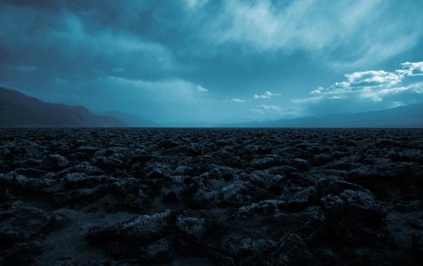 Фото обои облака, синее небо, природа, вечер, почва, земля, тучи