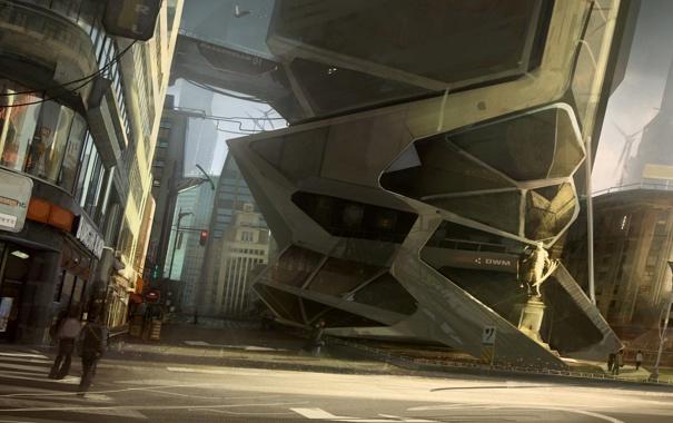 Фото обои Город, Будущее, Здания, City, Future