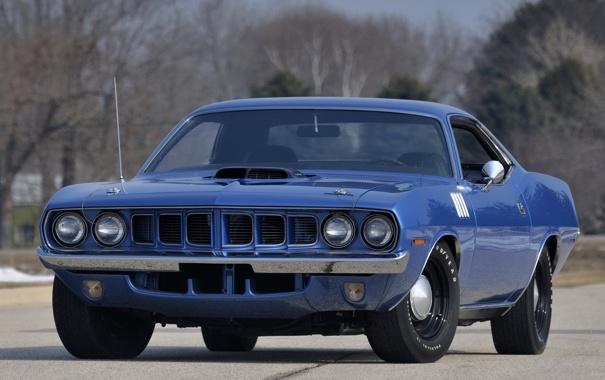 Фото обои 1971, мускул кар, muscle car, плимут, куда, plymouth, cuda
