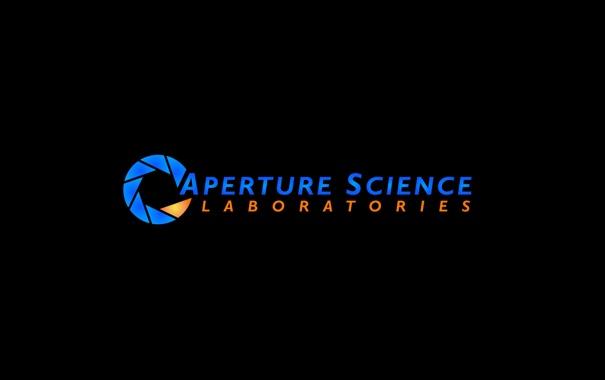 Фото обои минимализм, логотип, Portal, компания, Aperture Science