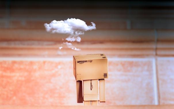 Фото обои коробка, облако, Amazon