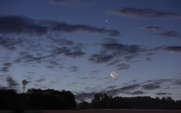 Фото обои Аргентина, Луна, Венера
