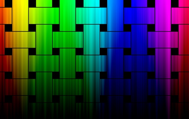 Фото обои цветные, радуга, квадраты, прямоугольники