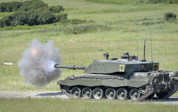 Фото обои оружие, выстрел, Tank, Challenger 2