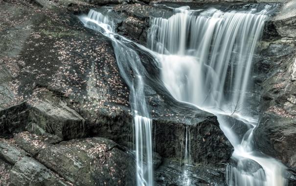 Фото обои природа, ручей, камни