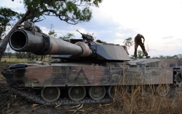 Фото обои оружие, танк, ствол
