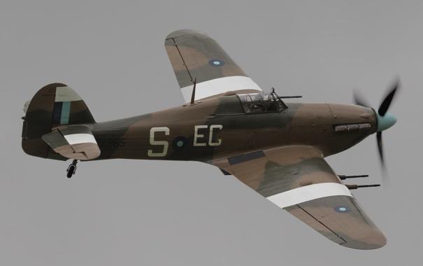 Фото обои истребитель, британский, одномоторный, Hurricane IIC