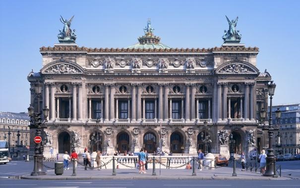 Фото обои город, Париж, франция, Оперный театр, Grand Opera