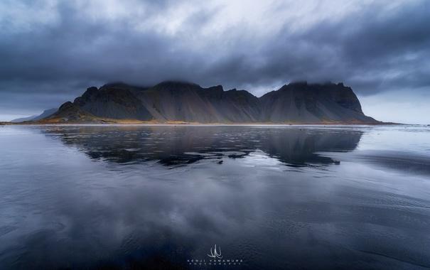 Фото обои море, тучи, гора, photographer, Kenji Yamamura