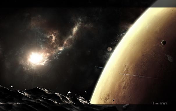 Фото обои горы, планета, гигантская
