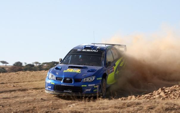 Фото обои дорога, песок, солнце, скорость, пыль, rally, ралли