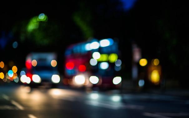 Фото обои город, улица, Англия, Лондон, фонари, двухэтажный автобус