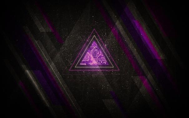 Фото обои фигура, темные обои, треугольник, ретро, стиль