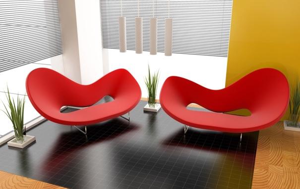 Фото обои стиль, кресла, обстановка