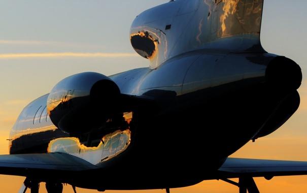 Фото обои авиация, самолёт, Falcon 50