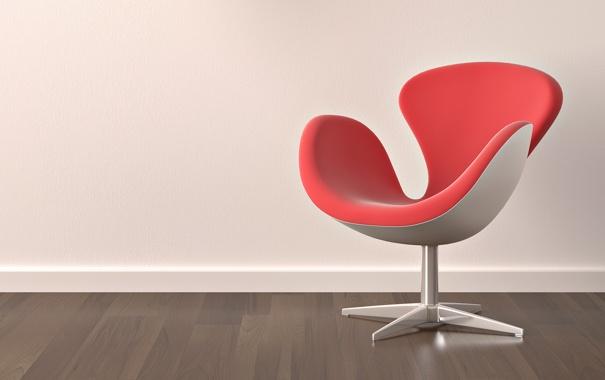 Фото обои дизайн, стул, кресло, коричневый, красное, квартира, пол