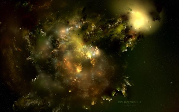 Фото обои звезды, свечение, созвездие, keltus nebula