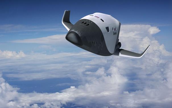 Фото обои небо, космос, облака, корабль, Россия, космический, проект