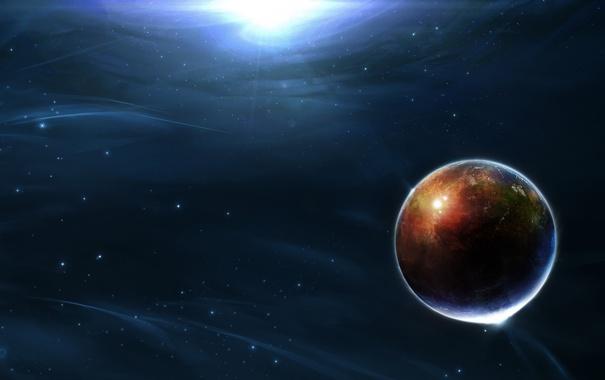 Фото обои космос, лучи, свет, свечение, light, Space, stars