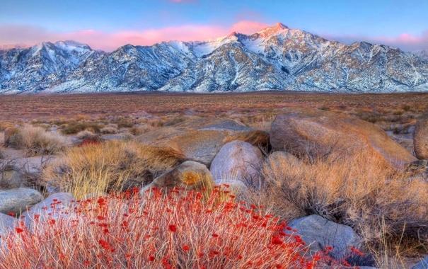 Фото обои пейзажи, горы, небо, камни