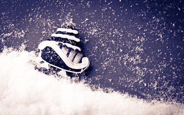 Фото обои снег, фон, елка, новый год, new year, background, snow