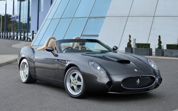 Фото обои серебристая, вид спереди, феррари 550, GTZ Barchetta, гтз барчетта, Ferrari 550