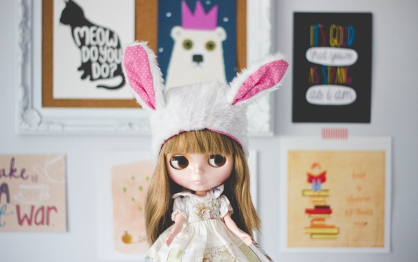 Фото обои шапка, кукла, ушки