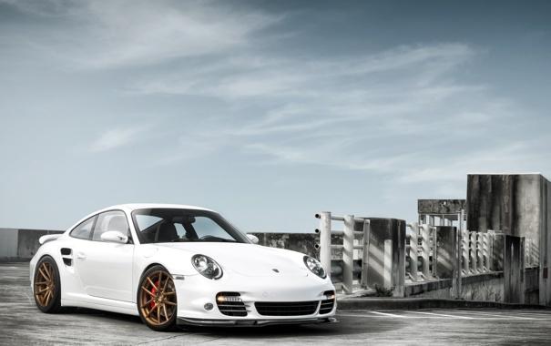 Фото обои белый, тюнинг, купе, 911, Porsche, суперкар, Порше