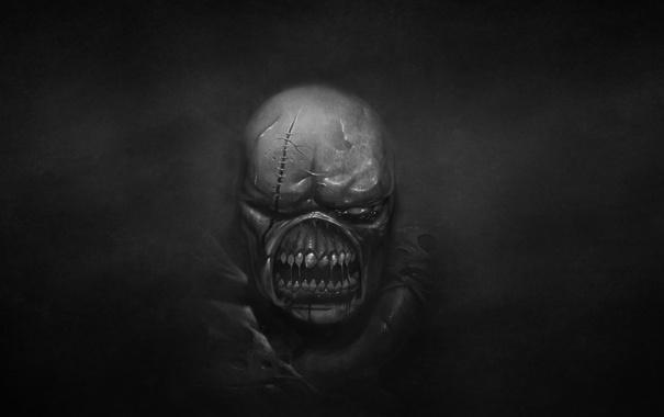 Фото обои темный фон, монстр, зомби, Resident Evil, обитель зла, Nemesis, Немезиc