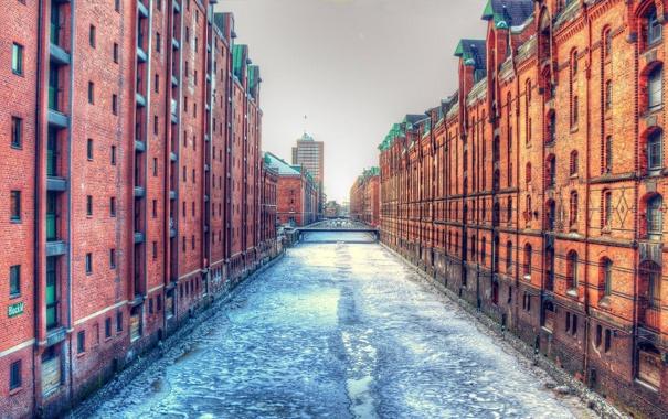 Фото обои лед, вода, город, здания, гонконг, hong kong, харбор